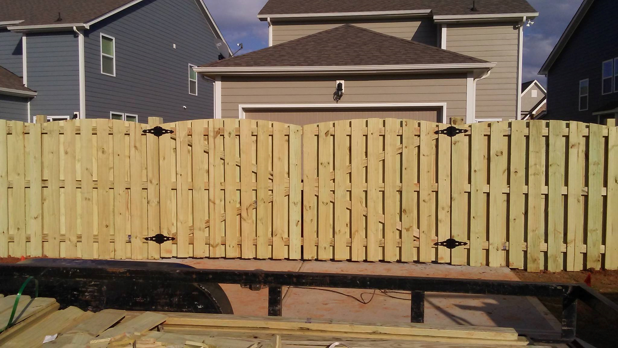 Princeton Wood Fences Semi Privacy fence Shaddow box